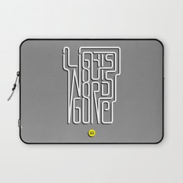 Lights Out, Words Gone Laptop Sleeve