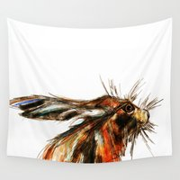 hare Wall Tapestries featuring Hare by James Peart