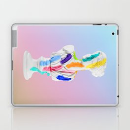 A Grecian Bust With Color Tests (Cotton Candy Gradient Edition) Laptop & iPad Skin