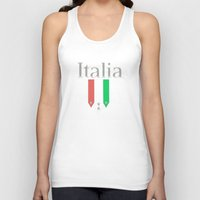 world cup Tank Tops featuring Italia World Cup Logo by Bunhugger Design