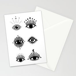 Midnight Mystic eyes Stationery Cards
