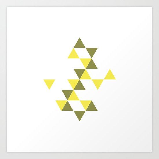 #322 Stars aligning – Geometry Daily Art Print