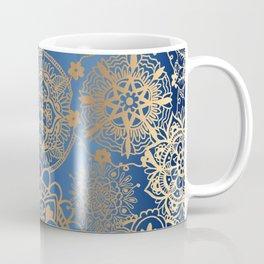 Blue and Gold Mandala Pattern Coffee Mug