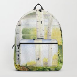 Behind The Birch Trees Backpack