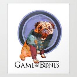 Game of Bones Tyrian as a Pug Art Print