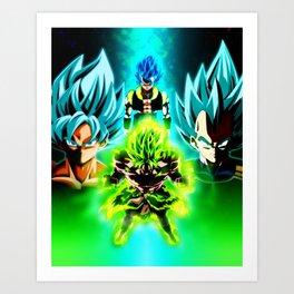 Dragon Ball Supero Movie Broly Art Print