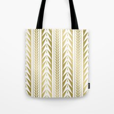 Tribal Stripes Gold Tote Bag