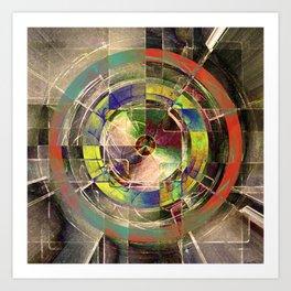 - mechanical sun - Art Print