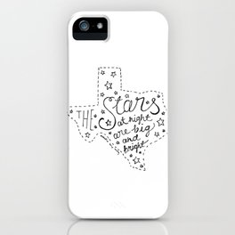 Stars at night iPhone Case