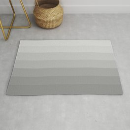 Clean Grey Lines - Gradient Grayscale Stripes Abstract Rug