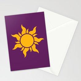 Tangled Rapunzel Sun Logo - Corona Symbol Stationery Cards