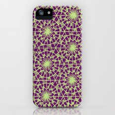 geometric vintage purple/green iPhone (5, 5s) Slim Case