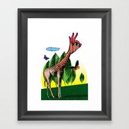Girafe Framed Art Print