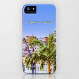 Santa Ana Hill, Guayaquil Poster Print iPhone Case