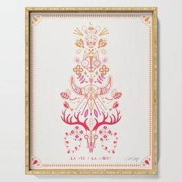 La Vie & La Mort – Pink & Orange Ombré Serving Tray