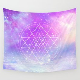 Sacred Geometry (Sri Yantra) Wall Tapestry