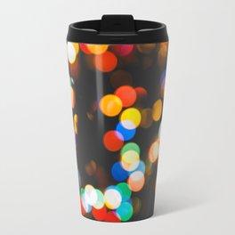 Christmas lights bokeh Travel Mug