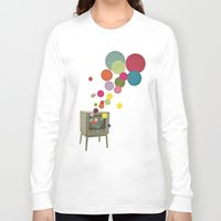 tv Long Sleeve T-shirts featuring Colour Television by Cassia Beck