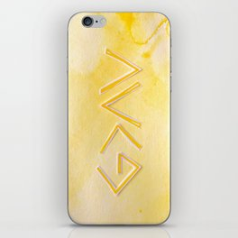God Is Greater - YELLOW iPhone Skin