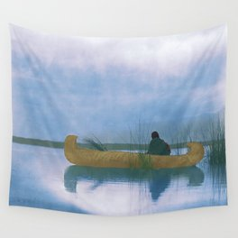 Kutenai duck hunter - American Indian Wall Tapestry