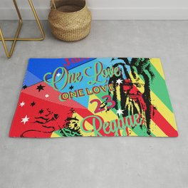 Rasta Reggae One Love Party Rug