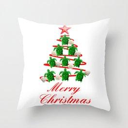 Coastal Merry Christmas Throw Pillow