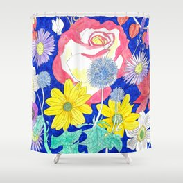 London Flora Shower Curtain