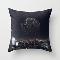 witchoria Throw Pillows featuring Insomnia by witchoria