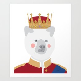 Head that wears the crown Art Print