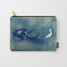 Water Buffalo and Bird Carry-All Pouch