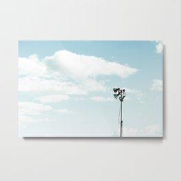 LED stadium light with blue cloudy sky Metal Print