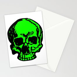 Green Pirate Skull, Vibrant Skull, Super-Smooth Super-Sharp 9000px x 11250px PNG Stationery Cards