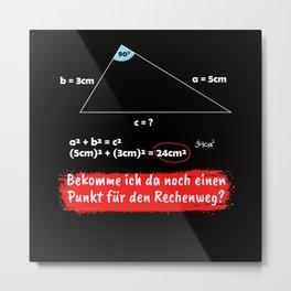 Teacher Math Teacher Pythagorean Theorem Gift Metal Print