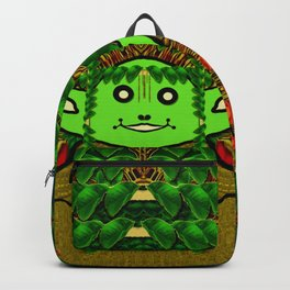 Gnomelorian stand for happy rights in natures color pop-art Backpack