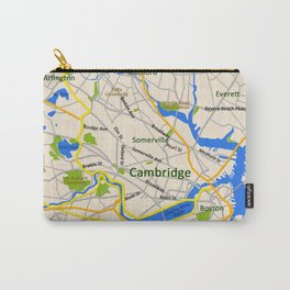 Map of Cambridge, MA, USA Carry-All Pouch