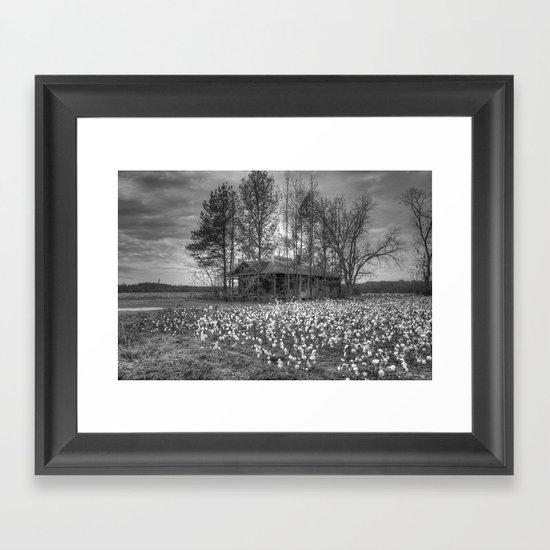 Hidden Home 2 in Black and White Framed Art Print