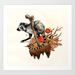 Ring-Tail Art Print