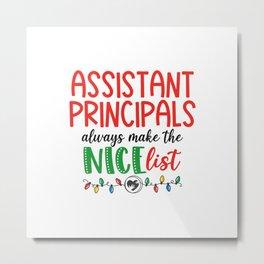 Christmas assistant principal, asst. Metal Print