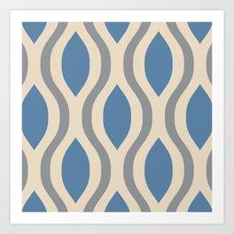 Pretty Ogee Pattern 369 Art Print