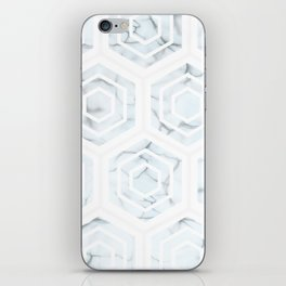 Minimal Marble (Marbling) Simple Hexagon Geometric Design Pattern (Sophisticated Clean Chic) iPhone Skin