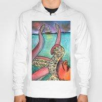 kraken Hoodies featuring Kraken by Indigo22