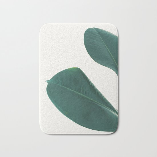 rubber fig leaves i bath mat by cassia beck society6
