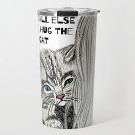 Hug the cat Travel Mug