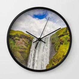 Waterfall in Island Wall Clock