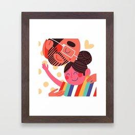 Daddy Daughter Framed Art Print
