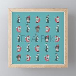 Dark Dreams - Children's Room Wallpaper in the Bunker Framed Mini Art Print
