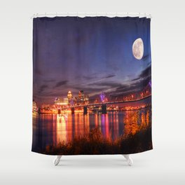 Along The Ohio River Shower Curtain