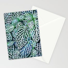 Tropical Leaves Fittonia Nerve Plant #watercolor #decor #society6 #pattern Stationery Cards