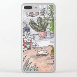 Personal Garden Clear iPhone Case