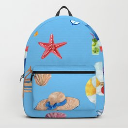 Time for the Beach, Summer Time Fun Backpack